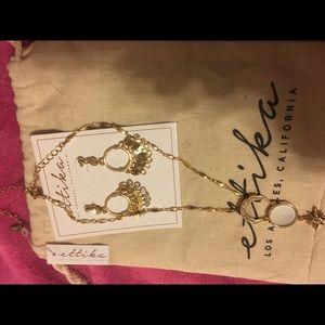 Ettika earrings and necklace